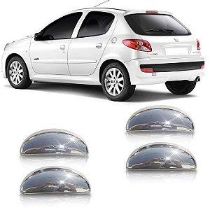 Aplique Cromado Da Maçaneta Peugeot 206 A 207 4 Portas