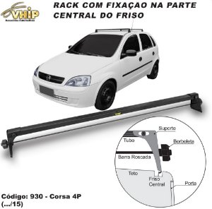 Rack Do Teto Corsa Wind Sedan Celta Fiesta Kadett