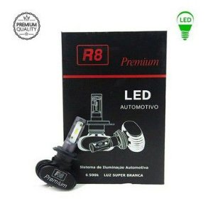 Par De Lâmpadas Led R8 Headlight Premium H3 6500K