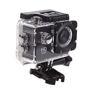 Câmera de Ação Full Sport Cam HD 1080p Preta