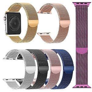 Pulseira Aço Milanês IWO 8 e Apple Watch 4 3 2 1