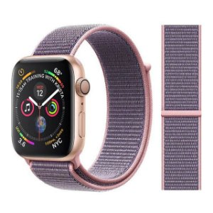 Pulseira Nylon Rosa Apple Watch Iwo 8 9 10 11 12 13
