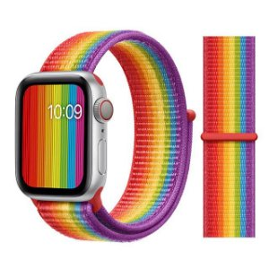 Pulseira Nylon Colorida Apple Watch Iwo 8 9 10 11 12 13