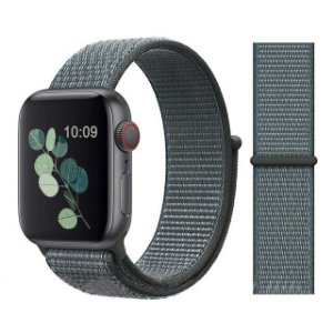 Pulseira Nylon Cinza Apple Watch Iwo 8 9 10 11 12 13