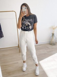 calça jeans mom alice white