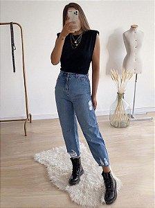calça jeans baggy melissa
