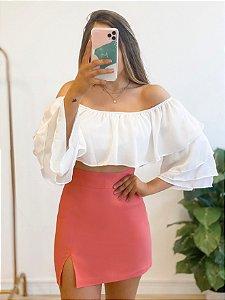 blusa cropped babados white