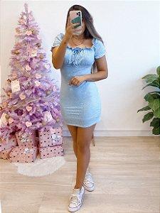 vestido ciganinha spring azul bebê