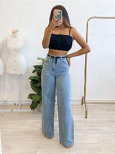 calça jeans pantalona hailey