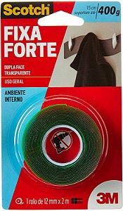 Fita Dupla Face 3M Scotch Fixa Forte12mm x 2M HB004419873