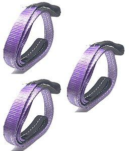 3 Cinta Sling 30 Duplo 1MT  1Ton Violeta  4088