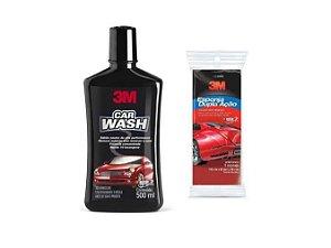 Shampoo Automotivo Car Wash 500ml 3M + Esponja Dupla Ação