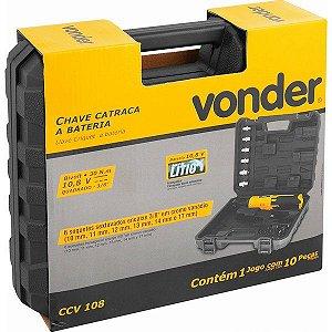 """Chave catraca a bateria, com encaixe 3/8"""", 10,8 V, bivolt, CCV 108 VONDER 60.01.108.130"""