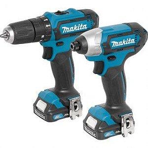 Conjunto parafusadeira/furadeira com impacto e parafusadeira com impacto, 12 V, CLX202SAX MAKITA60.45.202.012