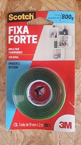 Fita Dupla Face Transparente  19X2M Fixa Forte 3M  219967
