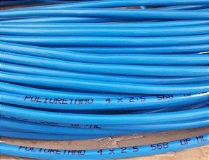 Tubo Pu-04 4 X 2,5 Azul Rolo com 100 Metros