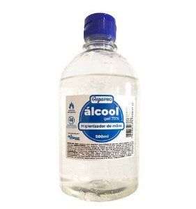 Kit 3 Alcool Gel 70% 500ml