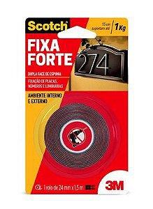 Fita Dupla Face 24mm x 1.5m Fixa Forte 3M  HB004419907