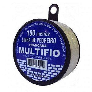Linha De Pedreiro Trançada 100m Monofil - Multifio 3 Rolos