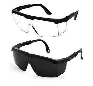 Oculos de Proteção Epi Incolor/Cinza 2 Unidades