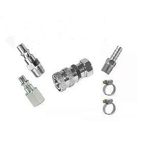 Engate Rápido De 1/4 Fêmea Lubefer + Conexoes P/ Compressor