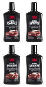 4 Shampoo Automotivo 3m Car Wash 500ml
