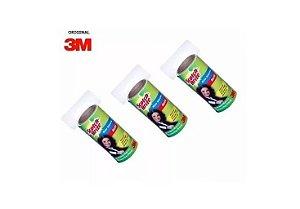 Kit Com 3 Refil Rolo Adesivo Scoth-brite 3m