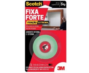 Fita Dupla Face 3M 24mm x 2mt x 5Kg Fixa Forte HB004492250