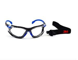 Oculos de Proteção 3M Solus 1000 Com Espuma e Tira Elástica