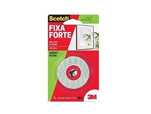 Fita Dupla Face De Espuma Fixa Forte 24mm x 1,5m x 1,5Kg 3m