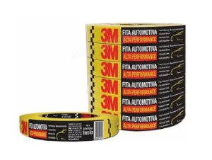 Fita Crepe Automotiva Alta Performance 18mmx40M - 5 Und
