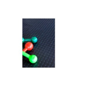 Piso Pastilhado Antiderrapante P/ Academia 50X50Cm 20 Placas