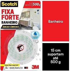 Fita Dupla Face 3M Para Banheiro 24mm x 1m Fixa Forte