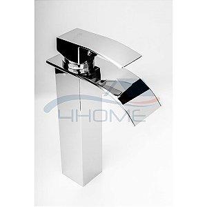 Torneira Monocomando Calha Metal Banheiro Lavabo Alta (26)