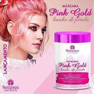 Máscara Pink Gold Banho de Pérola Natureza Cosméticos 1 kg