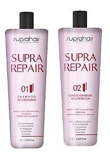 KIT Shampoo e Condicionador Regenerador Supra Repair 1 litro