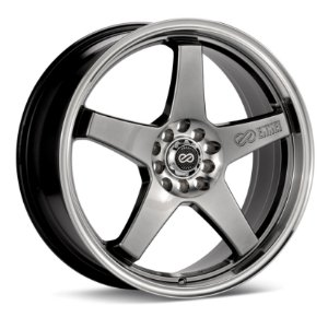 Enkei EV5 Hyper Black with Machined Lip 5X100/ 5x114,3 17X7 ET45