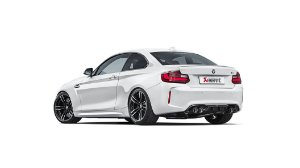 Akrapovic Evolution Line BMW M2 F87 + Rear Carbon Diffuser High Gloss