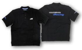 Camiseta Polo Volkswagen Racing - Preta