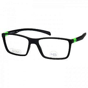 c2d8533ca Óculos de Grau HB Polytech M93136 Masculino Preto Fosco - ÓTICAS CASA MARCO