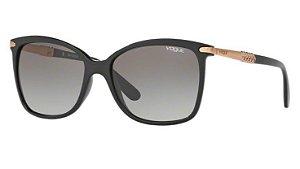 c32335e6e2 0VO5126SL W44/1155 - Óculos de Sol Vogue Preto com Hastes Dourada VO5126-SL
