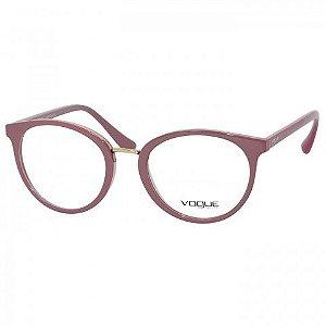 0VO5167L 2554 52 - Óculos de Grau Vogue VO5167L Rosa Brilho Feminino