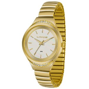 LRM4565L - Relógio Feminino Strass Lince LRG4565L Pulseira de Mola