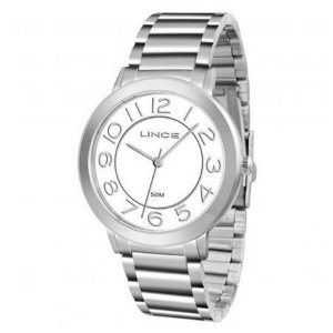 LRMH046L - Relógio Lince Prata Analógico Feminino LRMH046L B2SX