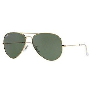 a7df88d74e64a Oculos De Sol Ray Ban Aviador Rb3026l L2846 62mm Dourado Lente Verde G15 TAM .62