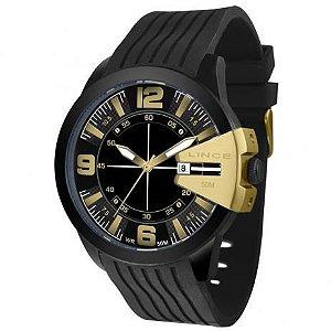 Relógio Lince Masculino de Borracha Preto Mrp4403s