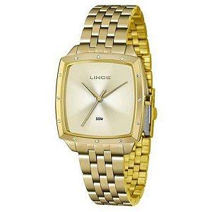 Relógio Lince LQG620L C1KX Feminino - Dourado Quadrado