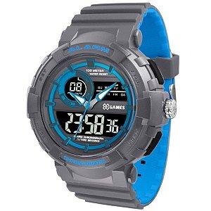 Relógio X-games Masculino Anadigi Xmppa266 Pxga Azul Cinza