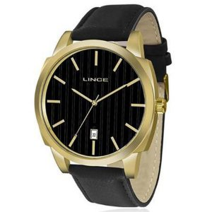 Relógio Masculino Lince Analógico MRC4462S P1PX Couro Preto