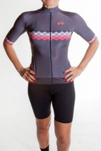Camisa Ciclismo Feminina 2019 Aero Chumbo
